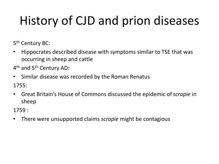 the elusive prion and cjd diseases Creutzfeldt-jakob disease (cjd) eutzfeldt-jakob disease, cjd, prion disease, creutzfeldt-jakob dementia, related dementia, dementia created date:.