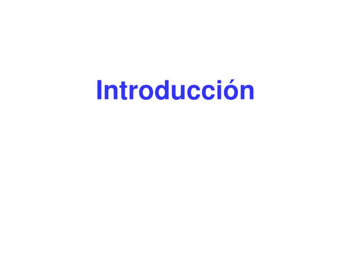 Introducci n