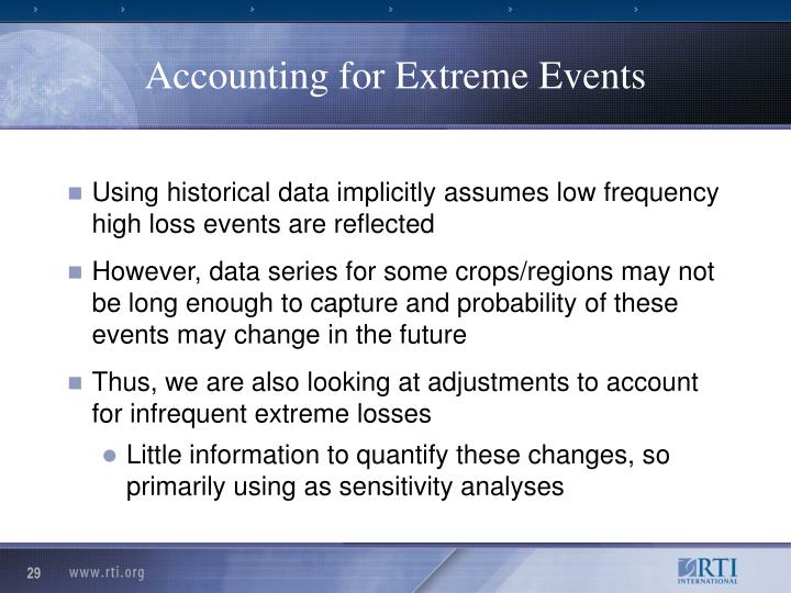 Accounting for Extreme Events