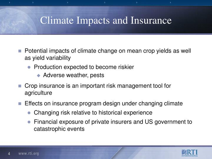 Climate Impacts and Insurance
