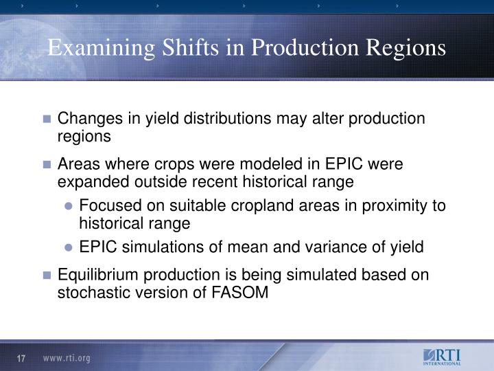 Examining Shifts in Production Regions