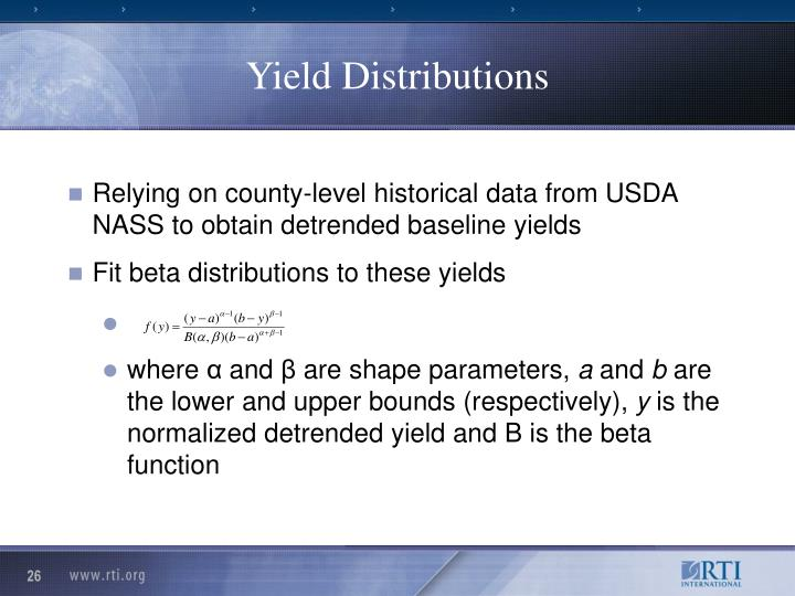 Yield Distributions