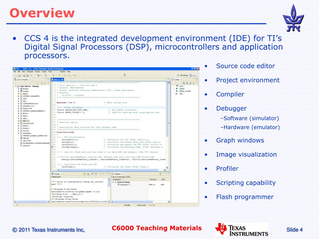 PPT - Code Composer Studio V4 PowerPoint Presentation - ID