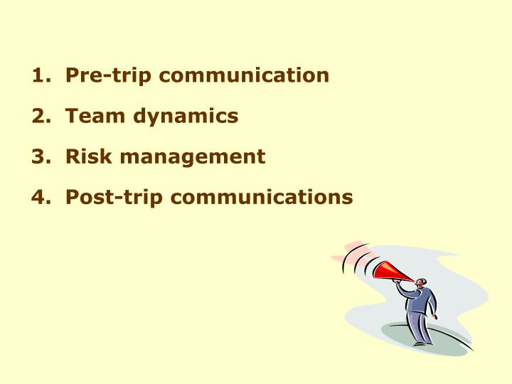 communication in team dynamics Team dynamics are forces that work between different people in a group it influences how the group performs, how they communicate, and other social things taking place in the team team communication affects on how the team members will participate in a particular task.