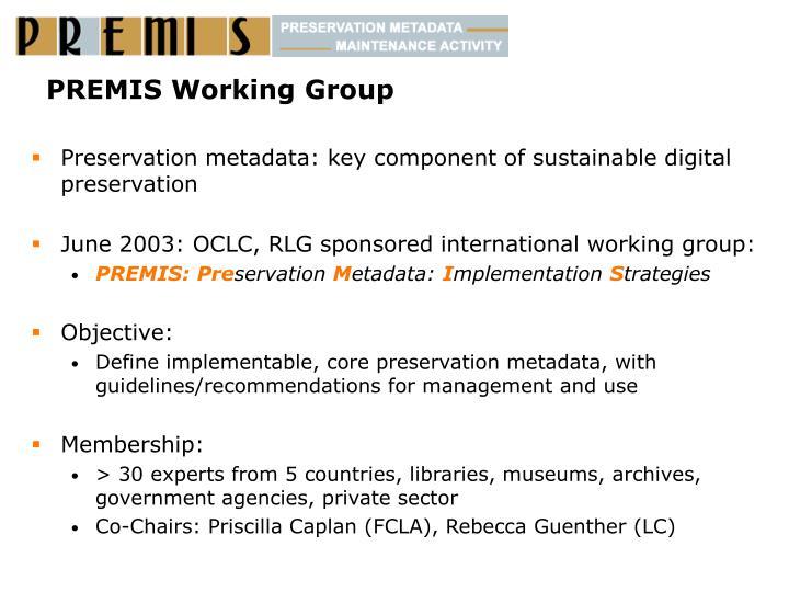 PREMIS Working Group