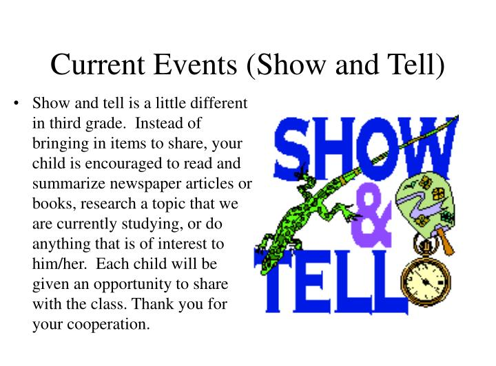 Current Events (Show and Tell)