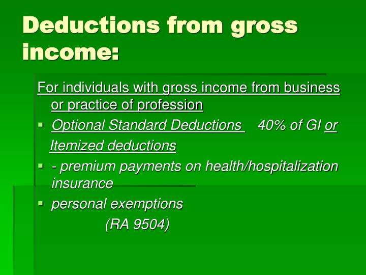 deductive from gross estate essay Us gross estate, provided the irc section 2056 mar ital deduction requirements are met but no marital deduction is allowed if the surviving spouse is not a us citizen unless the qualified domestic trust.