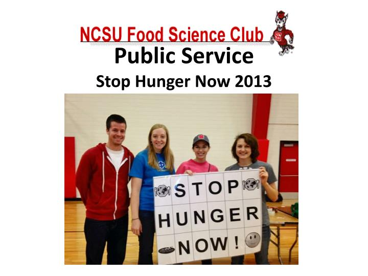Stop Hunger Now 2013