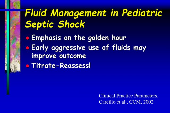 Fluid Management in Pediatric Septic Shock