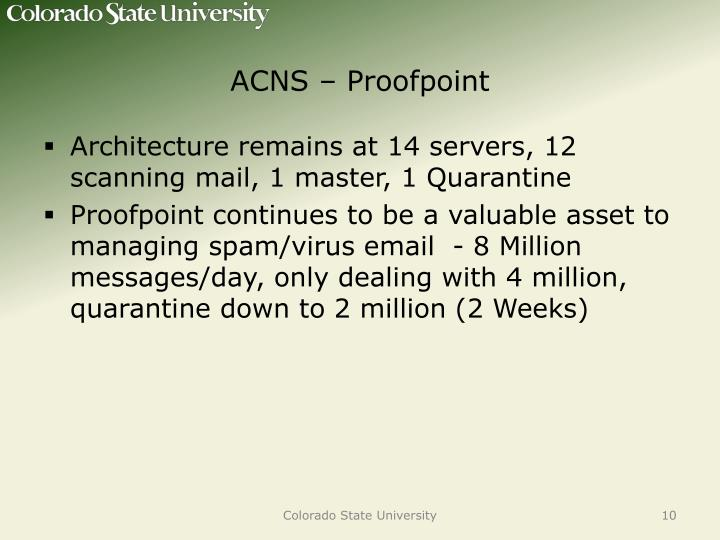 ACNS – Proofpoint
