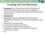 funding and cost recovery1