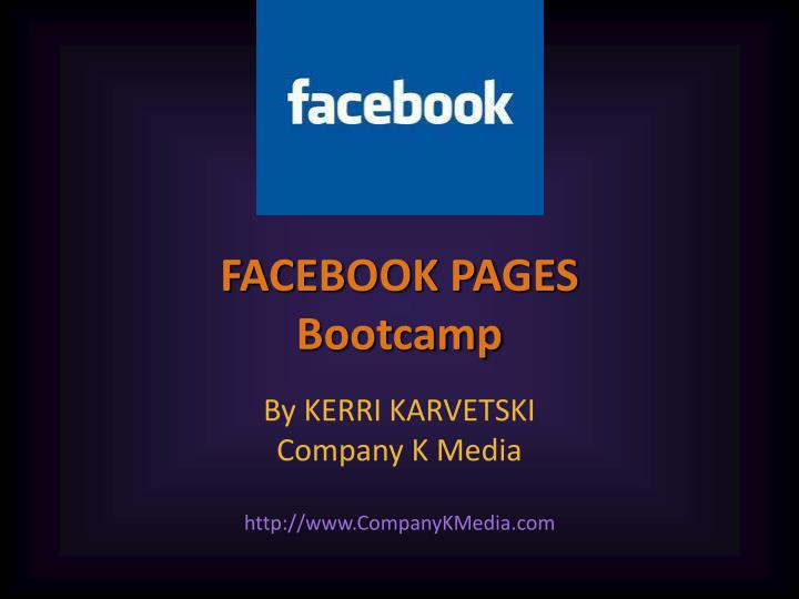 facebook pages bootcamp n.