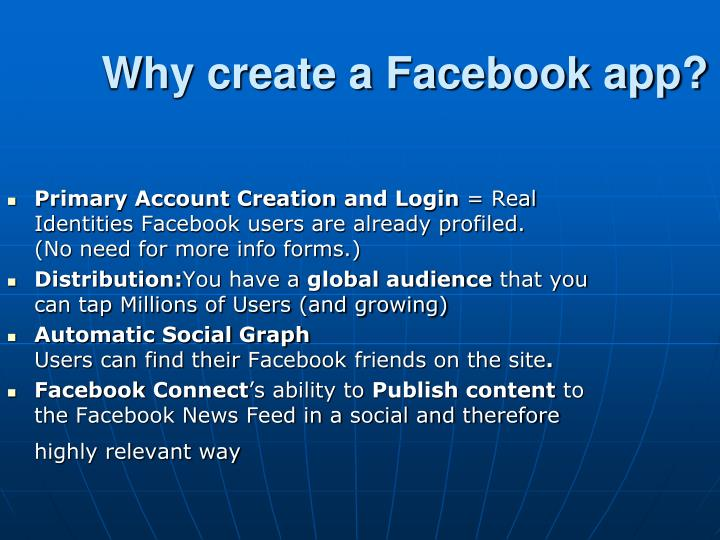 how to create facebook app