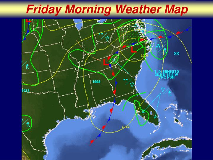 Friday Morning Weather Map