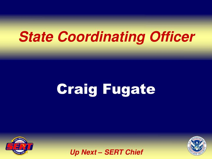 State Coordinating Officer