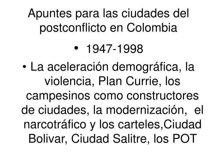 Apuntes para las ciudades del postconflicto en colombia2