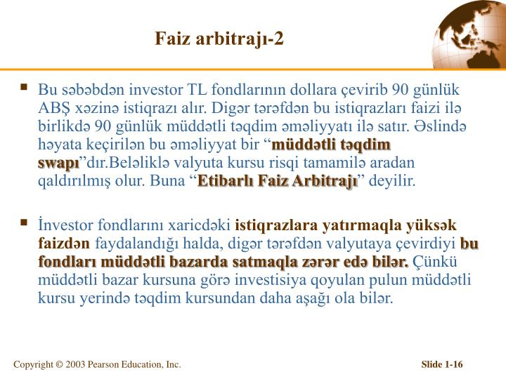 Faiz arbitrajı-2