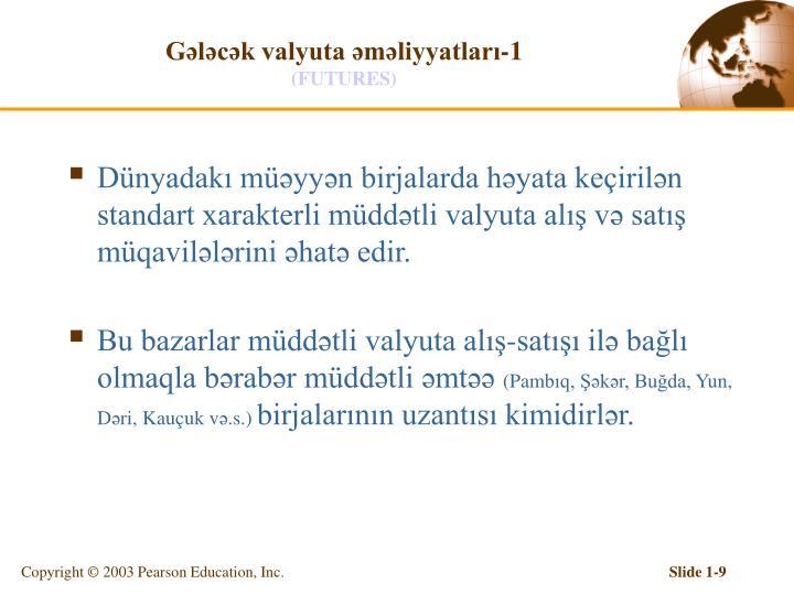 Gələcək valyuta əməliyyatları-1