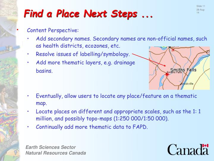 Find a Place Next Steps ...