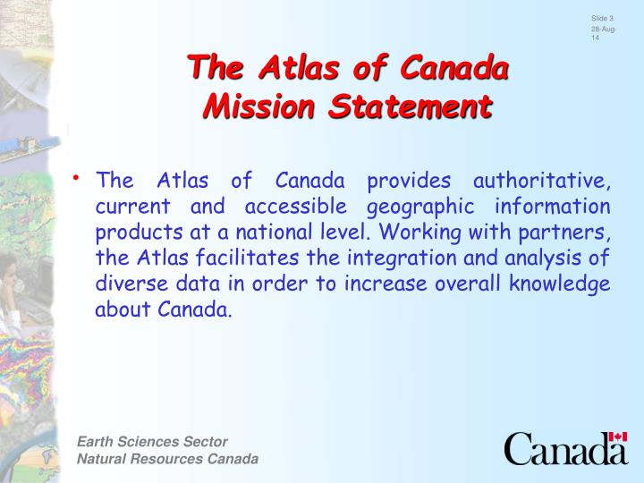 The atlas of canada mission statement
