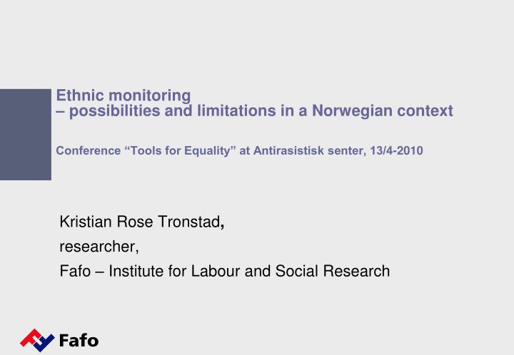 kristian rose tronstad researcher fafo institute for labour and social research