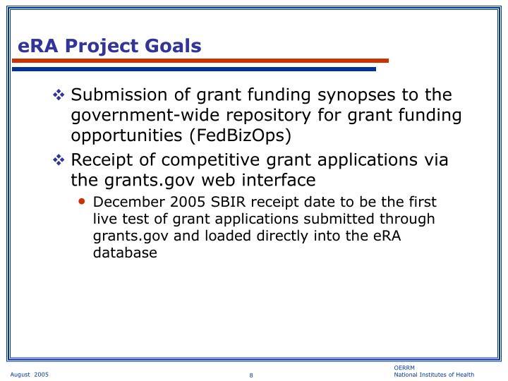 eRA Project Goals