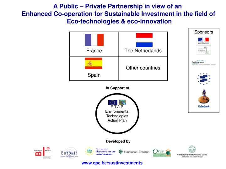 A Public – Private Partnership in view of an