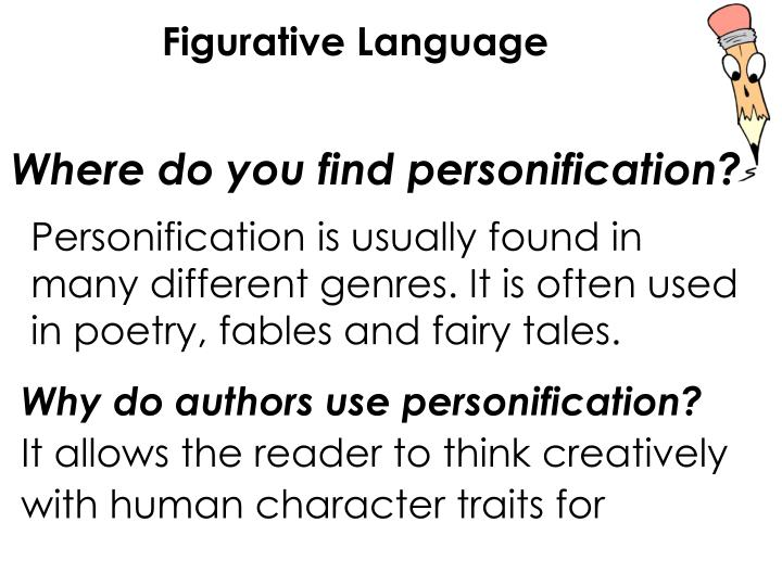 why do writers use personification