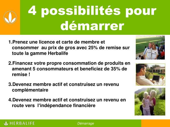 4 Possibilits Pour Dmarrer
