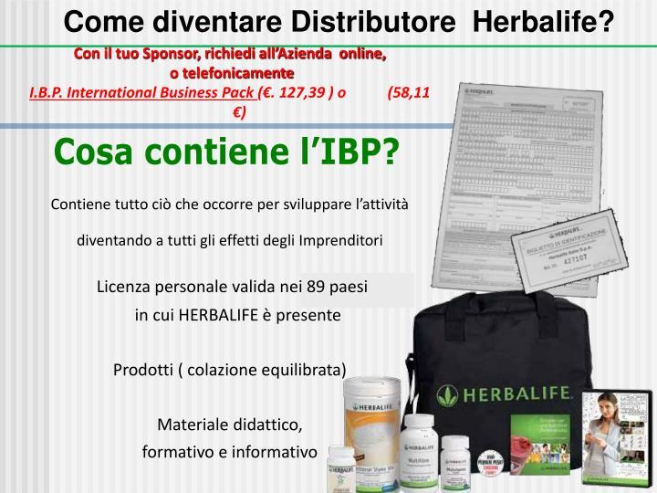 Come diventare Distributore  Herbalife?