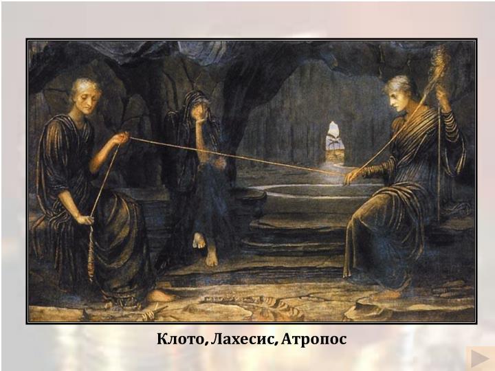 Клото, Лахесис, Атропос