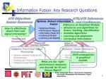 information fusion key research questions