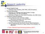 research leadership