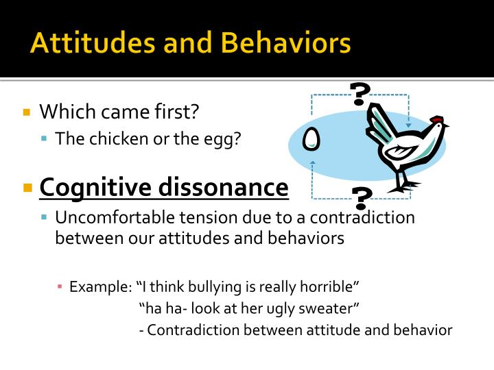 psychologists formulates theories to explain cause of behavior and attitude in humans The theory further suggests that present actions can influence subsequent beliefs and values, a conundrum psychologists have noted when studying cognitive dissonance.