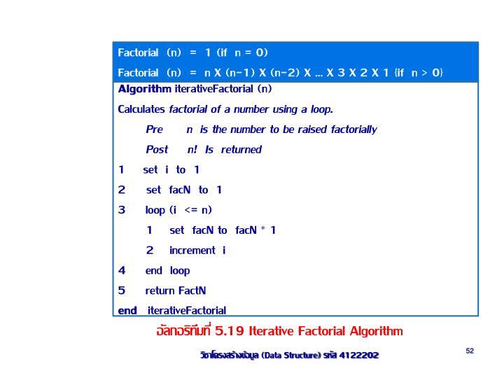Factorial  (n)  =  1 (if  n = 0)