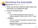 generating the executable