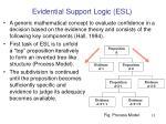 evidential support logic esl