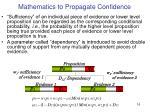 mathematics to propagate confidence