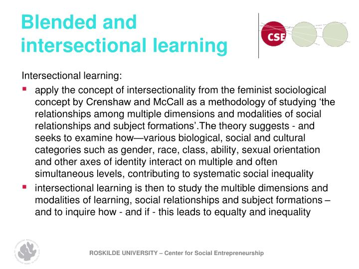 Blended and intersectional learning