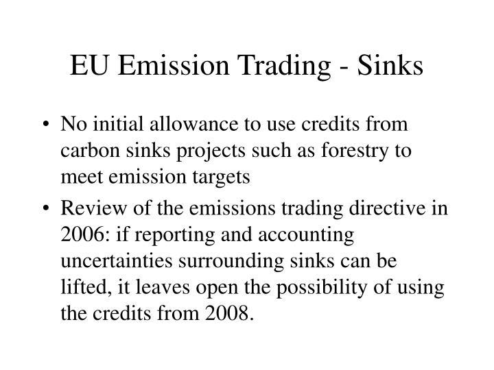 Eu emission trading sinks