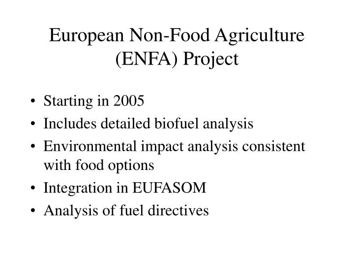 European Non-Food Agriculture (ENFA) Project
