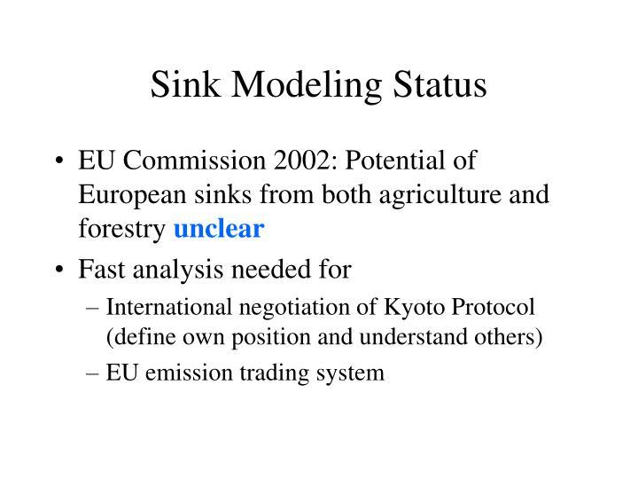 Sink modeling status