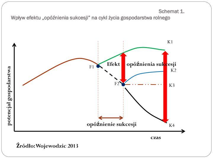 Schemat 1 wp yw efektu op nienia sukcesji na cykl ycia gospodarstwa rolnego