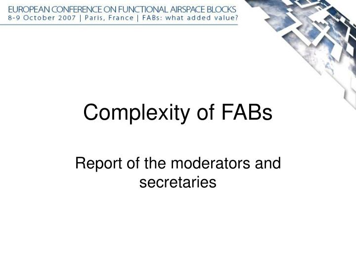 complexity of fabs n.