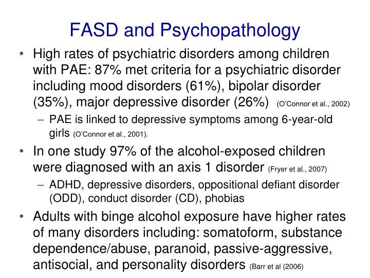 FASD and Psychopathology