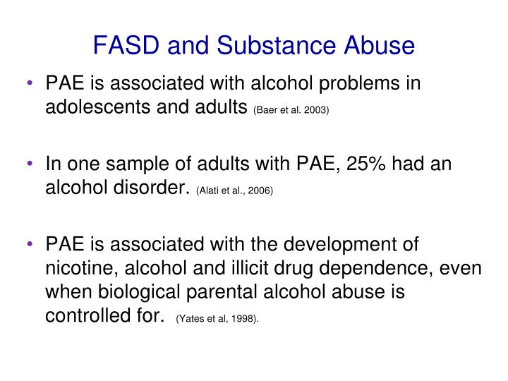 FASD and Substance Abuse