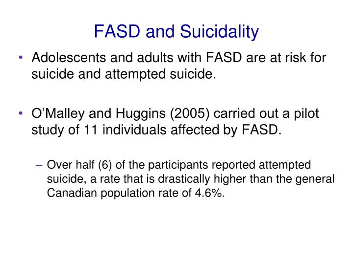 FASD and Suicidality