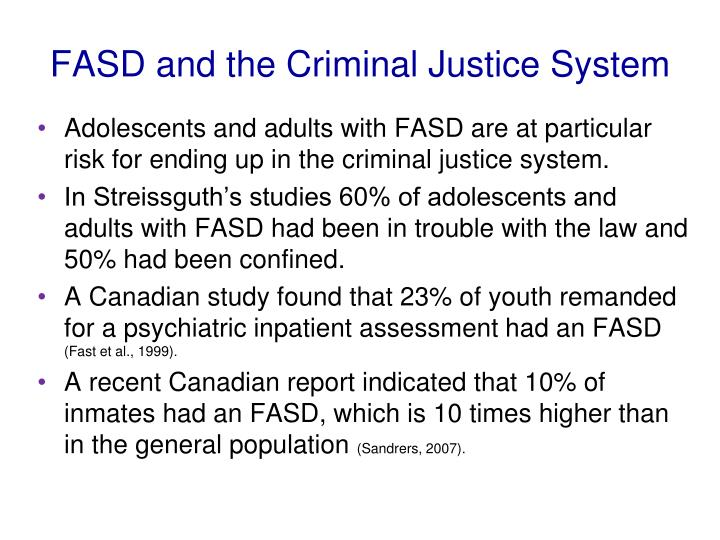 FASD and the Criminal Justice System