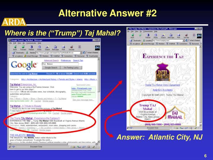 "Where is the (""Trump"") Taj Mahal?"