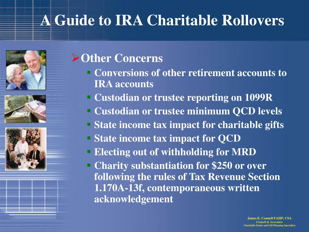PPT - A Guide to IRA Charitable Rollovers PowerPoint